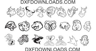 Free pack 22 mix animals bundle DXF SVG