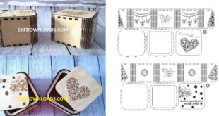 New Year Gift Box Free design to laser cut CDR Only
