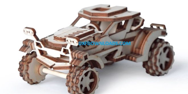 Off road car free laser cut download dxf cdr