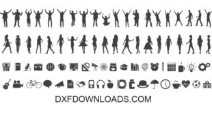 Free SVG Set Bundle Pack People icons DXF