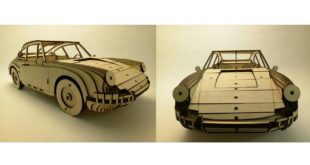 Laser Cut Classic Car Porche 911 1964 3mm