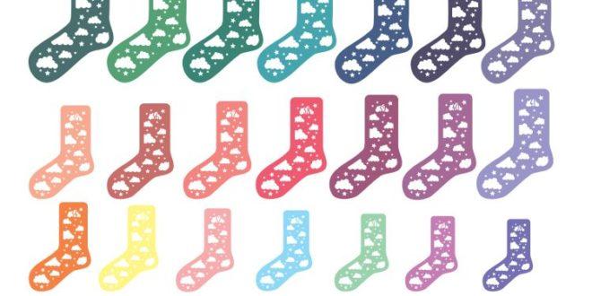 Free SVG DXF Socks Silhouette Cricut Files