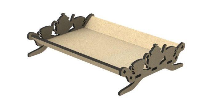 Tray design cnc cut wood 6mm