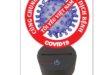 Vector virus free area covid corona CDR DXF night lamp