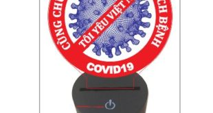 Vector virus free area covid corona CDR DXF night lamp