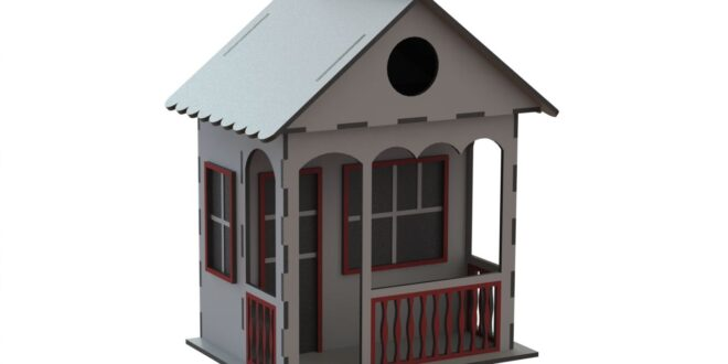 House to laser cut dxf cdr vector