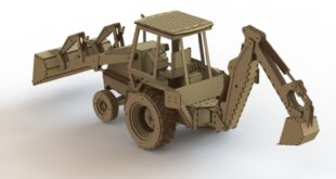 Bulldozer Excavator Cnc Model Cut File CDR FREE