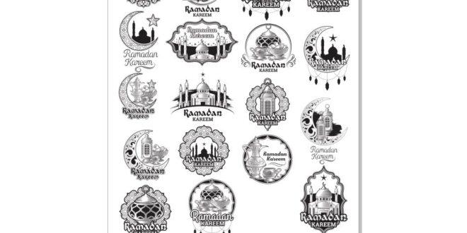 ramadan kareem vectors set cdr free
