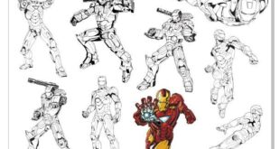 iron man vector set free CDR File download