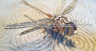 Dragonfly 3mm vector free to cut cnc