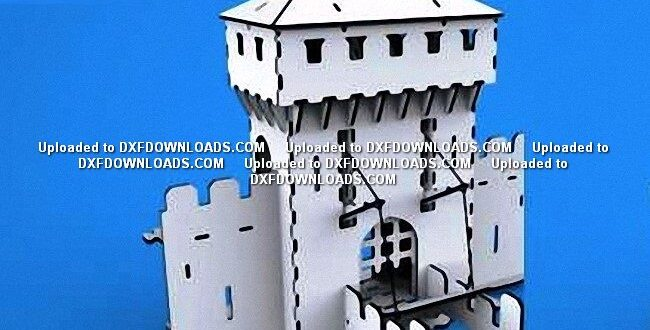 architectural design medieval castle vector free to cnc