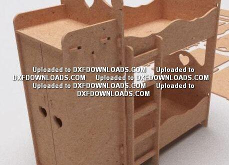 children toy bunk bed free cnc router design