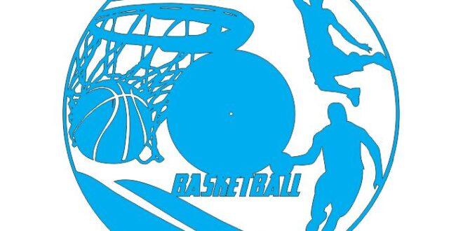 Basketball Clock vinyl cut