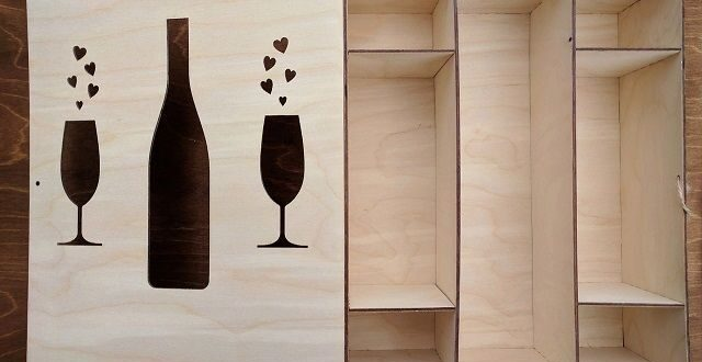 Box for champagne and glasses free