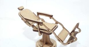 Barber chair miniature to laser cutting
