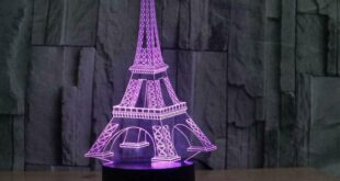 Eiffel Tower Acrylic 3D Illusion Lamp Free DXF