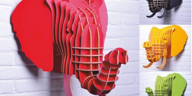 Elephant's head wooden cnc model