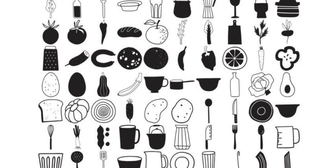 Kitchen Graphic Collection SVG Free