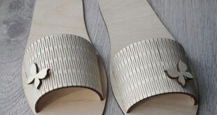 Laser Cutting Wooden Slipper