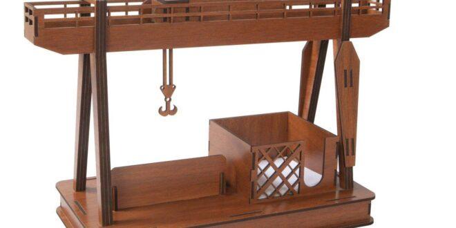 Harbor Crane desk organizer