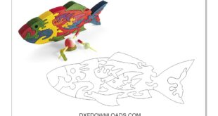 Puzzle Fish DXF CDR 2D Vector