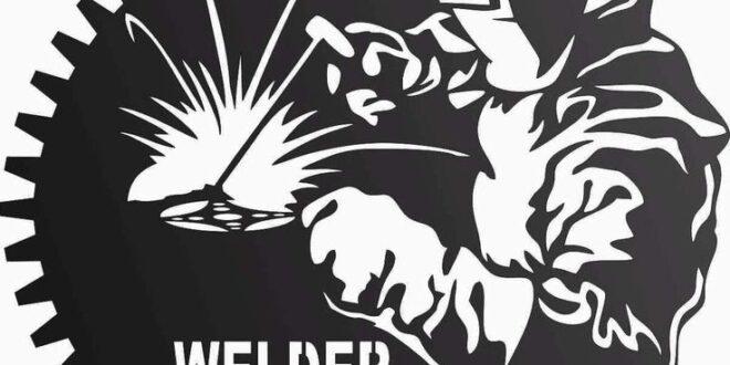 Welder in the workshop vector file