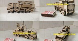 Truck ZRPK Pantsir-S1 3mm Free DXF CDR CNC File