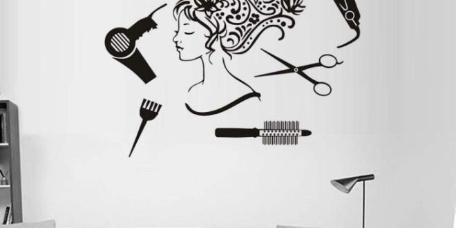 Beauty salon wall decor cut file