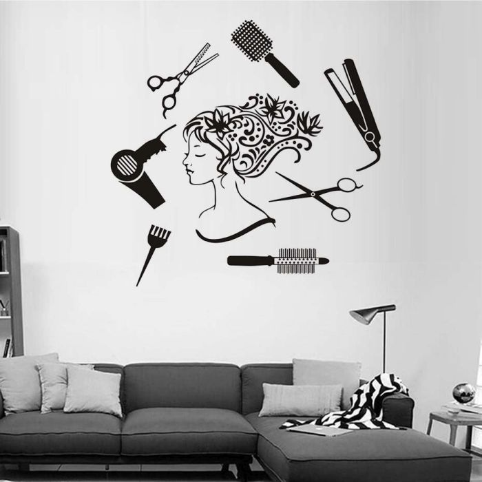 Beauty Salon Wall Decor Cut File Dxf Downloads Files For Laser Cutting And Cnc Router Artcam Dxf Vectric Aspire Vcarve Mdf Crafts Woodworking