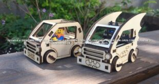 Batman and lego miniature car free toy wood cnc file