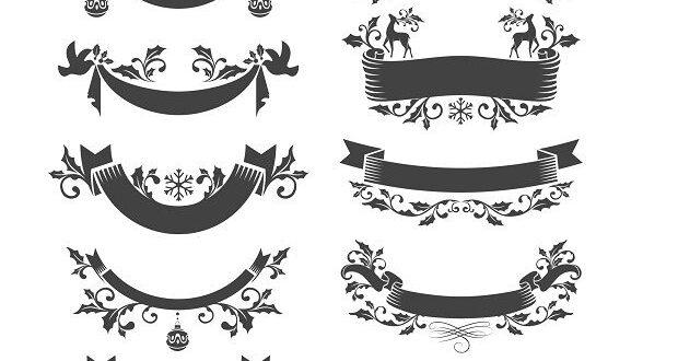 Christmas badges free vectors cdr