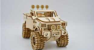 Jeep 3d puzzle off road car to laser cut