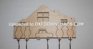 Keychain family car free design to cnc cut