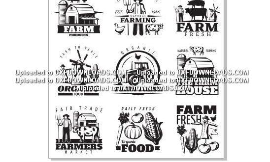 Farm logos 1 free vectors