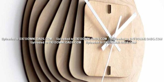 Wooden clock 3mm birch plywood free cnc cut file