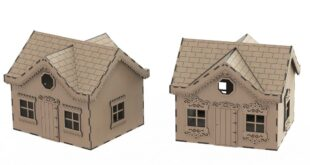 Miniature House design to laser cut