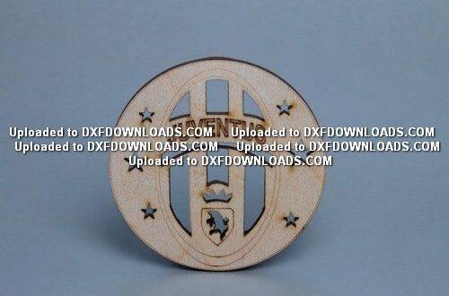 Juventus logo to laser cut and engrave