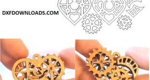 Mechanical heart free design to cnc laser cut
