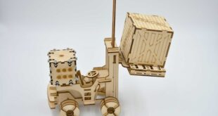 Miniature model of forklift to laser cut