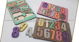 Numbers puzzle toy to kids free vector to laser cutting