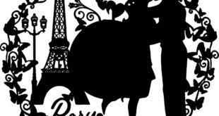 Paris clock silhouette dxf file