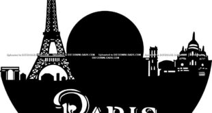 Paris vinyl Wall clock free vector