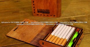 Cigarette box for laser cutting file on wood Free