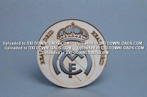 Real Madrid Free logo emblem dxf to cnc