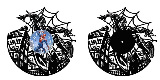 Spiderman watch vector dxf and cdr for cutting