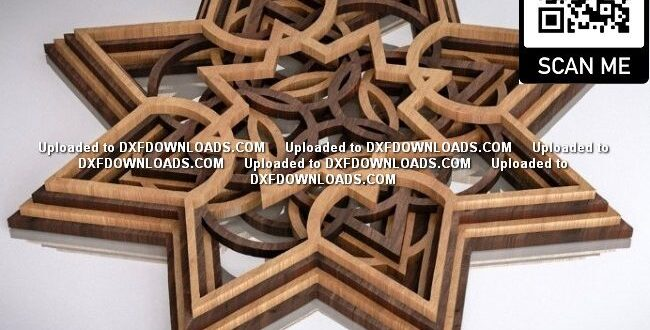 Multi Layered Christmas Star Free CNC CDR