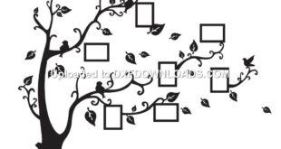 Tree photo wall decor free drawing download