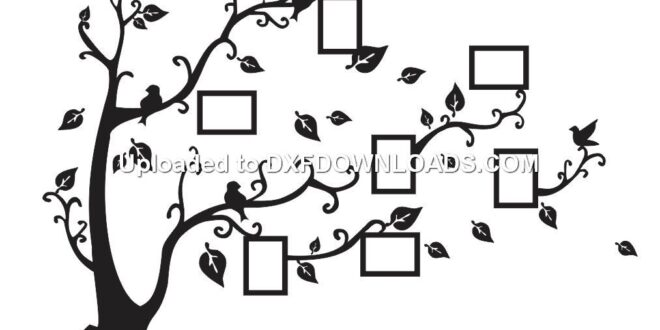 Tree photo wall decor free drawing download