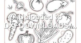 Puzzle vegetables toy kids drawing for free download