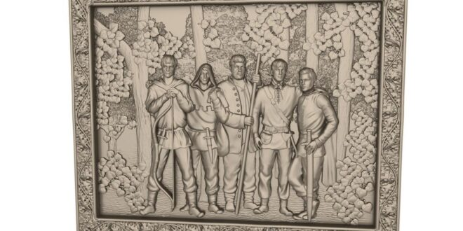 Low relief brothers frame 3d stl 1661